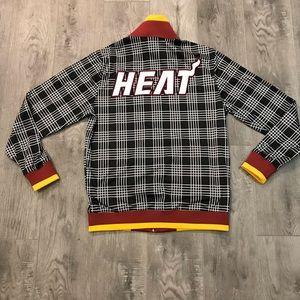 Miami Heat NBA by UNK Plaid Zip Track Suit Jacket